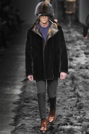 Fur Apotheosis at Fendi Menswear A/W 2014 | dorianwhite